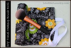 This DIY Travel Makeup Brush Roll, is a quick and easy project to sew. It makes a wonderful travel case for your own brushes or a gift for a friend or family member. From LifeAfterLaundry.com