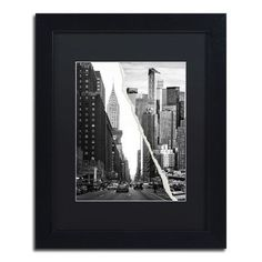 """Trademark Art Downtown City by Philippe Hugonnard Framed Photographic Print Size: 14"""" H x 11"""" W x 0.5"""" D"""