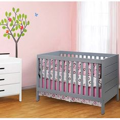 oh my freaking word... a grey crib!??!? @Megan Ward Ward Hoppenjans this is right up there with the hot pink scheme we talked about!!! It is on sale for only $199! please, talk me into buying this!