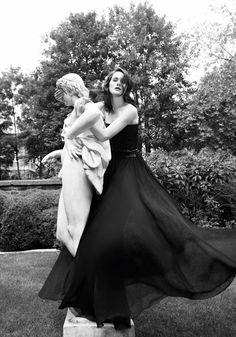 Michelle Dockery of Downton Abbey for Harper's Bazaar (plus an interview)