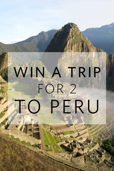 Want to go to Peru? I just entered the Nisolo Giveaway: a Trip for 2 to Peru! Everyone wins $25 to @nisoloshoes Enter Now: http://nisolo.co/perutrip