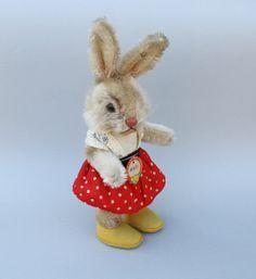 19581963 Vintage Steiff Nikili Rabbit Girl 10.5 T by Steiffphyndz, $340.00