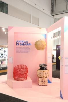 The Ukhamba lamp in the Africa is Now stand at Design Indaba Expo. Exhibition Stand Design, Exhibition Display, Stage Design, Event Design, Stand Feria, Expo Stand, Pop Up Shops, Merchandising Displays, Display Design