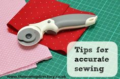 Tips for accurate sewing