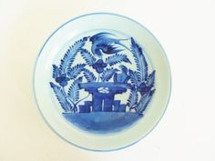 Antique 1790-1830 Chinese Blue and White Porcelain Plate