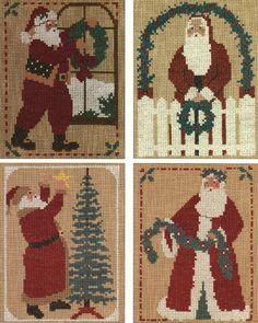 Homespun Collectibles 1999 Santas Counted Cross by straphaelwomen