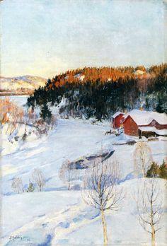 Pekka Halonen, Iltatunnelma, 1896
