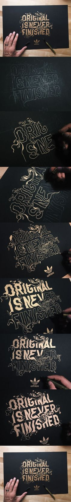 Adidas Typography | Original Is Never Finished on Behance #typography #lettering