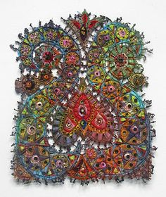 Fabric art by Susan Lenz