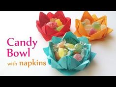DIY Candy Bowl with Paper Napkins -