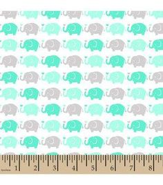 "Snuggle Flannel Fabric 42""-Elephant Parade Mint"