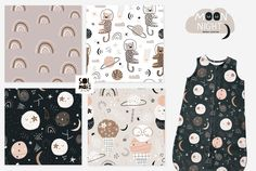 MOON night graphic collection by solmariart on @creativemarket