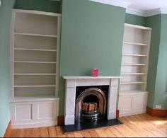 love the green...lower down cupboard