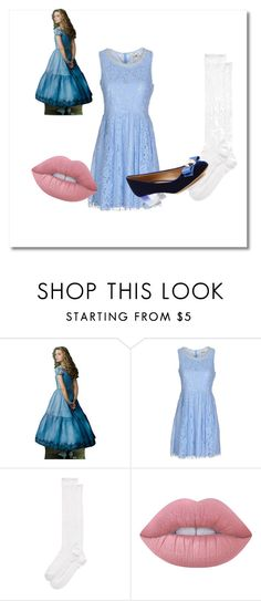 """Areum as Alice, Wide Awake"" by b-pavla on Polyvore featuring Molly Bracken, Kate Spade, Lime Crime and Salvatore Ferragamo"