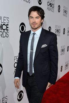 """Vampire Diaries"" actor Ian Somerhalder at the 2014 People's Choice Awards #Celebrity #HairTrends #MensStyle"