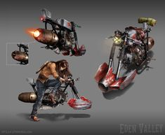 Hover-bike concept for my personal project, Eden Valley.