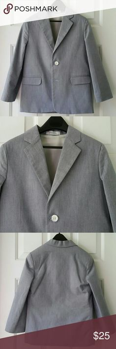 Little Boys Blazer Little Boys Blazer from Belk. 100% Cotton. Lining 100% Polyester. Two buttons in the front. Excellent condition. Dry clean only. Belk Jackets & Coats Blazers