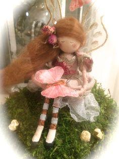 Fairy In a Glass Sweet Jar - Butterfly Fairy by FabulousFairyFactory on Etsy