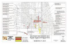 Road Closures during #SXSW  http://sxsw.com/sites/default/files/attachments/overview%20map.pdf