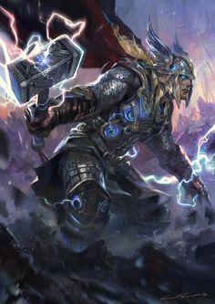 THOR,  Avengers, Character, Drawings, Fan Art, Movies & TV, Paintings & Airbrushing, Superhero, Thor