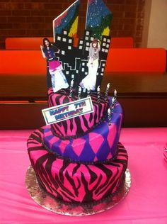 shake it upCake   tier topsy turvy cake for a 7th birthday party. The Shake It Up ...
