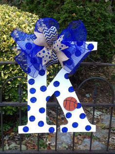 Hey, I found this really awesome Etsy listing at https://www.etsy.com/listing/168546122/kentucky-basketball-football-door-hanger