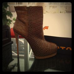 Just listed on Poshmark: New in Box POUR LA VICTOIRE Booties: $95 Volkova Croc, Sz 9