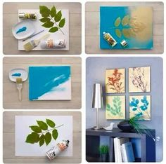 Easy,cheap DIY projects for home to decorate and improve your home inexpensively. DIY canvas art ideas,furniture projects,up cycled crafts Diy Home Decor Rustic, Diy Home Decor Bedroom, Diy Home Decor On A Budget, Diy House Projects, Craft Projects, Project Ideas, Leaf Crafts, Diy Crafts, Diy Buttons