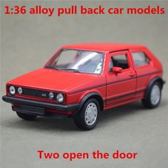 1:36 alloy pull back car models,high simulation Volkswagen Golf GTI second generation,metal diecasts,toys