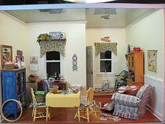 Dollhouse Miniature Furniture - Tutorials   1 inch minis: Quilt Cottage