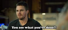 """#Arrow reaction gifs - """"You see what you've done?!"""" love this episode."""