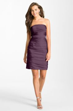 ML Monique Lhuillier Bridesmaids Ruched Strapless Cationic Chiffon Dress (Nordstrom Exclusive) available at Nordstrom