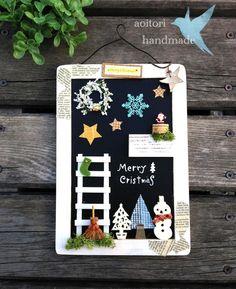 クリスマス ブラックボード壁掛け