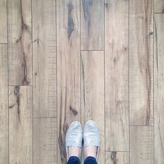 Swiftlock's Antique Hickory laminate wood flooring. It's the same flooring Jess Wasserman used throughout their precious house and it looks and feels just like handscraped hardwood. Here are some photos from her Insta-feed: