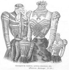 Corsages, 1898. La Mode Illustrée , December 25, 1898