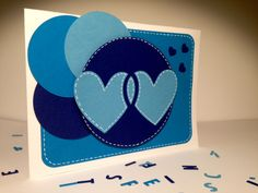 Love is Love Tell him that you LOVE him, with this double-hearted card :)