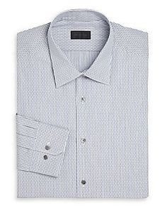 Pal Zileri Slim-Fit Stripe Dress Shirt - Blue - Size 4