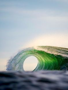 Luminescent green wave. Maybe Atlantic? Love that 'O'!