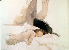 """huariqueje: """" The Helga Pictures - Andrew Wyeth 1971-85 American 1917-2009 Watercolour """""""