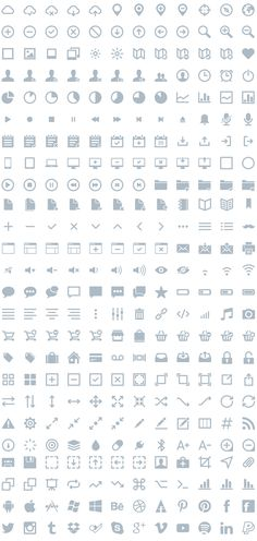 IKONS - 300 FREE vector icons in SVG, AI, ESP, PSD, CSH and PNG format | By: Piotr Kwiatkowski #icons #ui