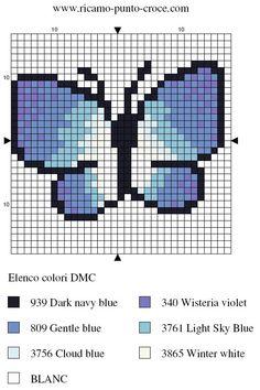 disegno punto croce farfalla 003
