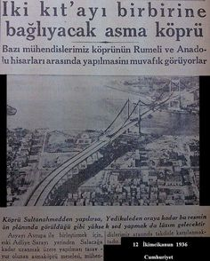 The oldest news about the Bosphorus Bridge b … – … – En Güncel Araba Resimleri History Photos, History Facts, Abu Dhabi, Weird Pictures, Beautiful Pictures, Istanbul Pictures, Turkey History, Bosphorus Bridge, Turkey Country