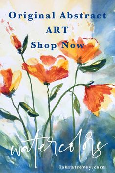Laura Trevey Watercolor Art for Sale - Abstract Florals
