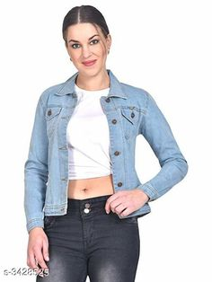 Jackets  Stylish Denim Women's Jacket Fabric: Denim Sleeves: Full Sleeves Are Included Size:  S - 34 in Length - Up To 25 in           M - 36 in Length - Up To 27 in            L - 38 in Length - Up To 29 in Description: It Has 1 Piece Of Women's Jacket Pattern: Solid Country of Origin: India Sizes Available: S, M, L, XL   Catalog Rating: ★3.9 (396)  Catalog Name: Free Mask Stylish Denim Women's Jackets Vol 16 CatalogID_476362 C79-SC1023 Code: 113-3428525-027