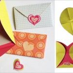 Heart-Shaped ENVELOPE AND CARD