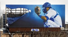 KC Royals' billboards. Pitcher's on the other side.