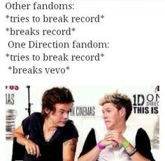 Ha that's just because our fandom better that the rest