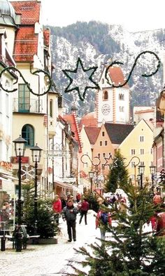Christmas in Fussen, Germany