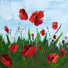 Image result for acrylic flower painting abstract