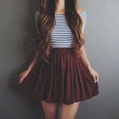 Take a look at 9 back to school outfits for teens with a striped top in the photos below and get ideas for your own outfits! teen fashion outfit ideas for school with jeans, yeezy sneakers, striped crop top, cardigan… Continue Reading → Tumblr Outfits, Mode Outfits, Casual Outfits, Fashion Outfits, Casual Teen Fashion, Outfits 2016, Hipster Outfits, Skirt Fashion, Trendy Fashion